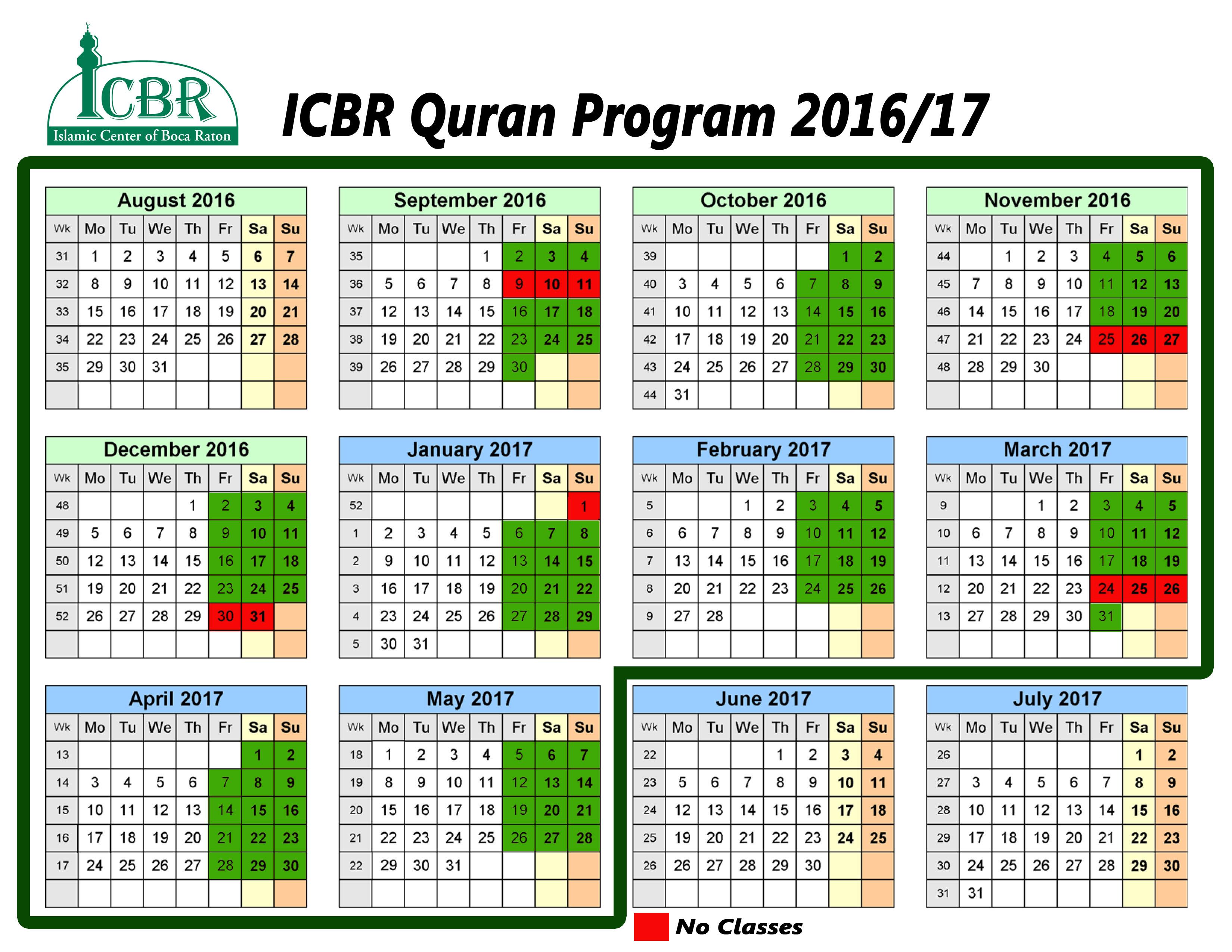 Quran weekend school islamic center of boca raton faith into