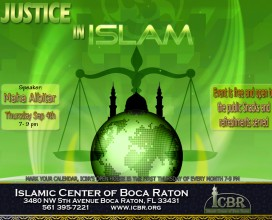 justice in Islam Open house Sep14