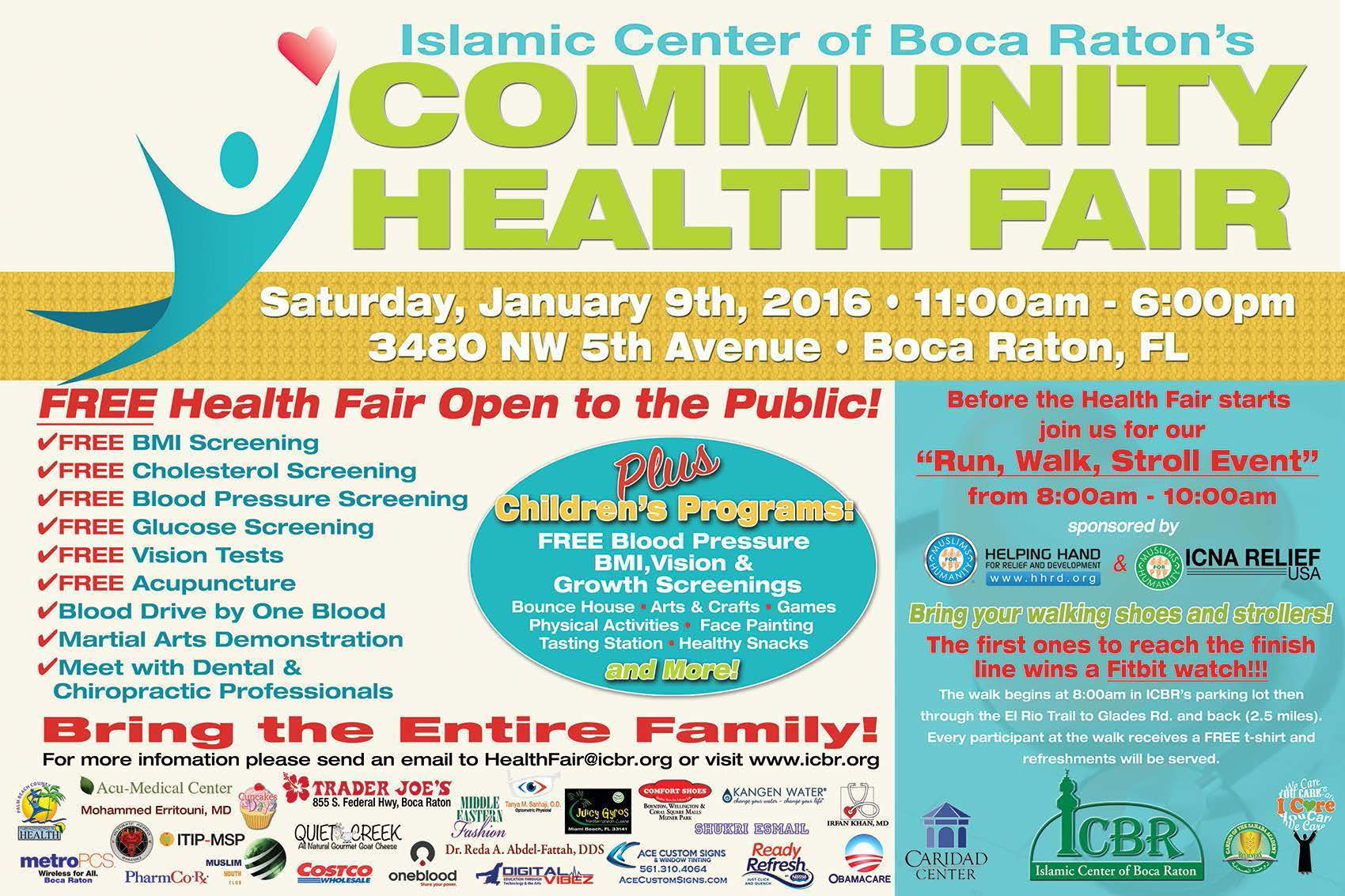 icbr 5th annual community health fair islamic center of