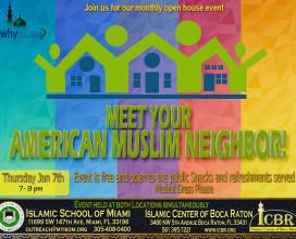Open House  Meet your Muslim Neighbore Jan 2016