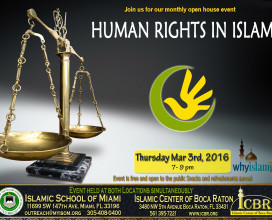 Open House Mar 2016 Human Rights in Islam