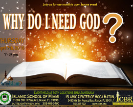Open House  Why do I need God Apr 7th