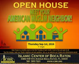 Open House  Meet your Muslim Neighbore Sep 2016