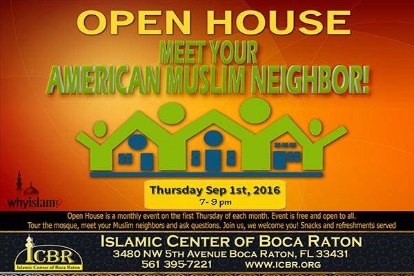 Open House  Meet your Muslim Neighbore Sep 2016 Slide