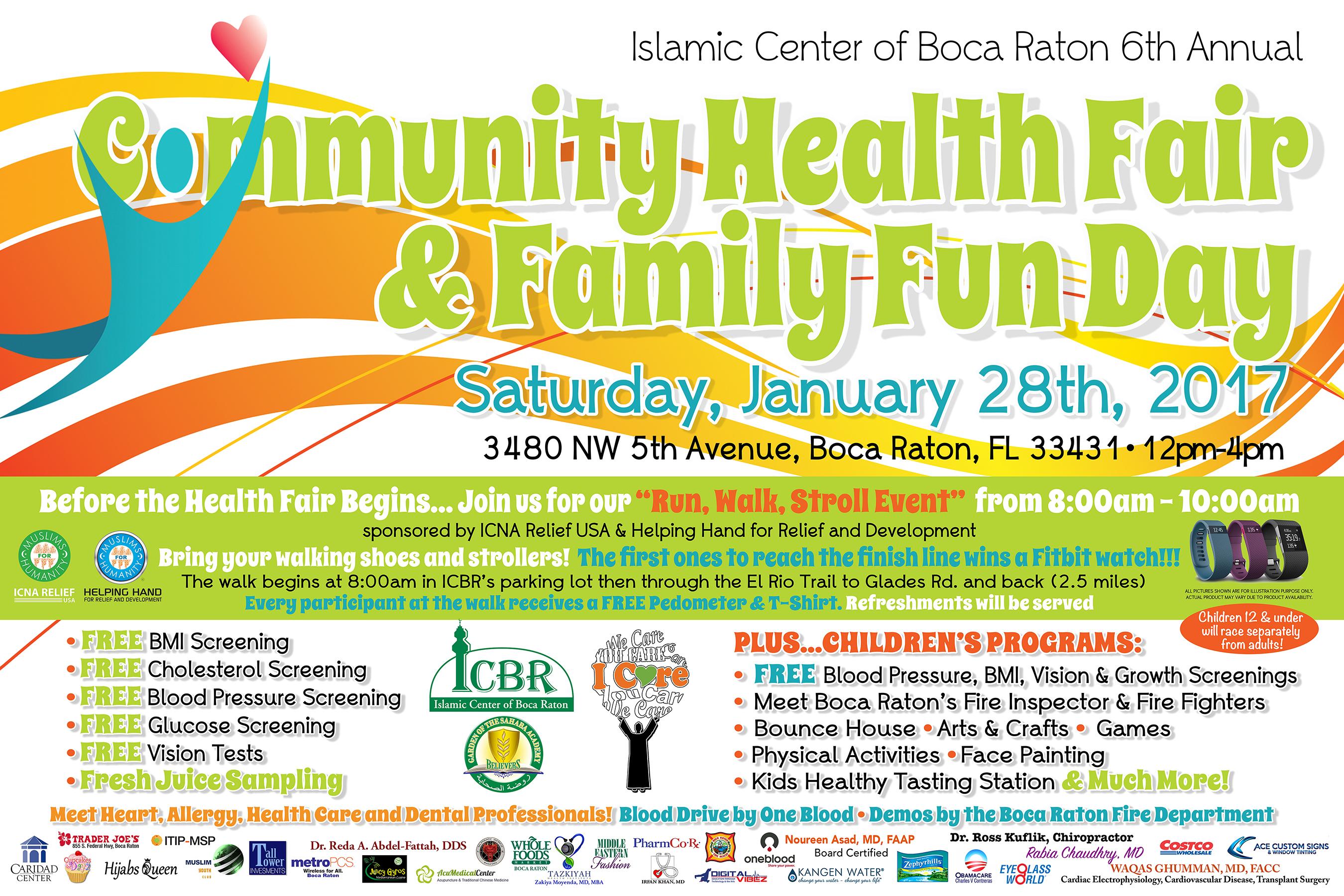 icbr 6th annual community health fair islamic center of
