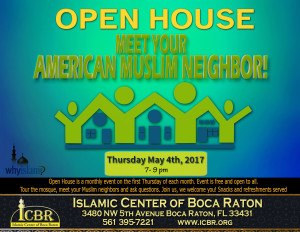 Open House Meet your Muslim Neighbore May 2017