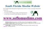 SoFloMuslims Flyer