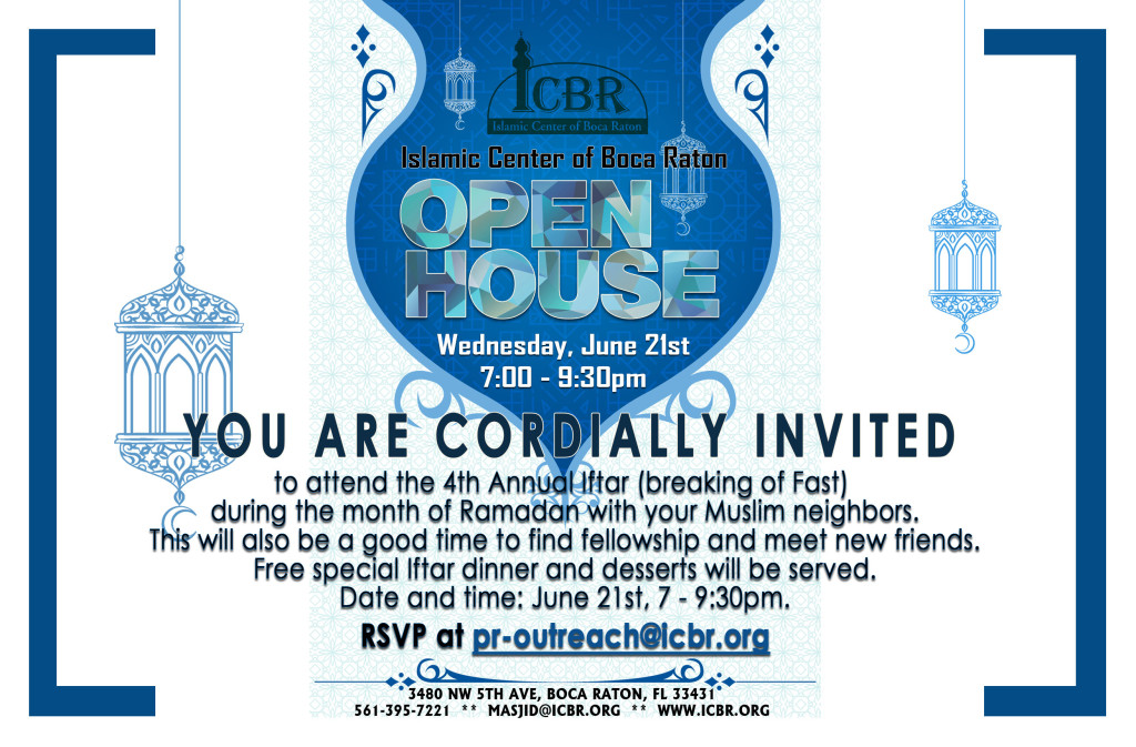 Open House Invitation Ramadan 2017 - Front