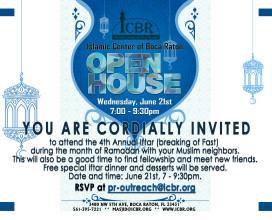 Open House Invitation Ramadan 2017 - Front