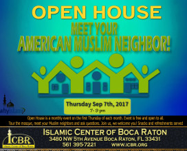 Open House Meet your Muslim Neighbore Sep 2017