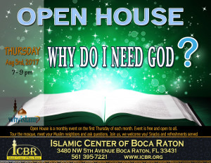 Open House Why do I need God August