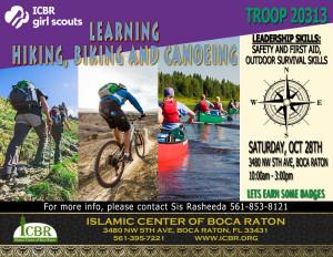 HIKING BIKING AND CANOEING