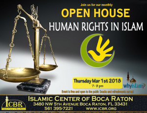 Human Rights in Islam Open House Mar 2018